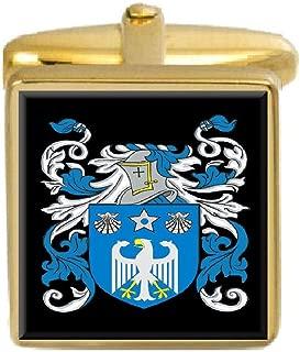 Mcguire Ireland Family Crest Coat Of Arms Heraldry Cufflinks Box Set Engraved