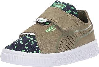 PUMA Boys' Suede Deconstruct Velcro Sneaker, Olivine-Peacoat-Irish Green, 12 M US Little Kid