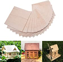 15 Pack Balsa Wood Sheets, Basswood Thin Wood Sheets Hobby Wood MDF DIY Wood Board for House Aircraft Ship Boat DIY Wooden Plate Model, for Arts and Crafts, School Projects 150x100x2mm