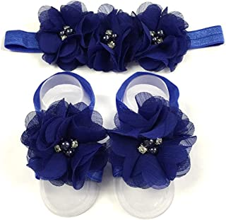 LD DRESS Baby Girl Foot Flower + Headband