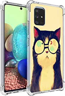 Pineapple Case for Samsung A71,Gifun Hard PC+TPU Bumper Clear Protective Case for Samsung Galaxy A71 4G Version Release 20...