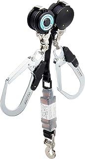 ポリマーギヤ WDR/RNC-M-51S-F8-NB 新規格 フルハーネス用Wランヤード 2丁掛け リール 常時巻取式 巻き込み防止付 ランヤード長:1600mm
