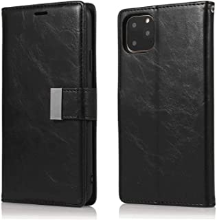 Leather Flip Case Fit for Samsung Galaxy S9 plus, black Wallet Cover for Samsung Galaxy S9 plus