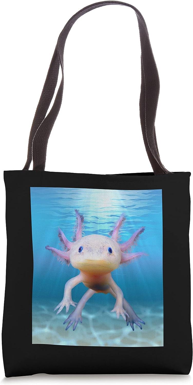 Cute Floating In Water Mexican Walking Fish Axolotl Tote Bag