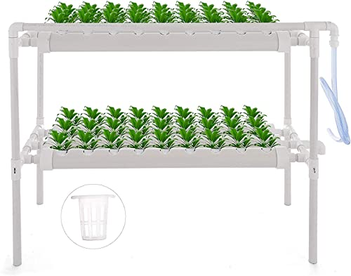 2021 Mophorn Hydroponic Site Grow Kit 2 Layers 54 Plant Sites Hydroponic Growing System 6 Pipes Water Culture Garden Plant online System for Leafy Vegetables Lettuce Herb Celery wholesale Cabbage online