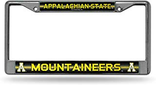 NCAA Appalachian State Mountaineers Bling Chrome License Plate Frame with Glitter Accent