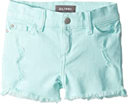 Lucy Cut Off Shorts in Bleached Aqua (Toddler/Little Kids)