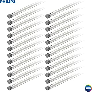 Philips LED MainsFit Ballast Bypass 4-Foot T8 Tube Glass Light Bulb: 1800-Lumen, 4000-Kelvin, 14 (32-Watt Equivalent), Medium Bi-Pin G13 Base, Frosted, Cool White, 24 Pack, 544189, Piece