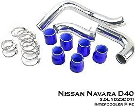Aluminium Turbo Intercooler Piping Direct Bolt Fits For Nissan Navara D40 Pickup 2.5L YD25DDTi Diesel