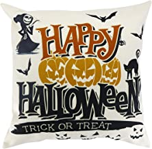 "Halloween Element Throw Pillow Case Cotton Linen Pillow Cover Cushion Cover 18""x18""inch"