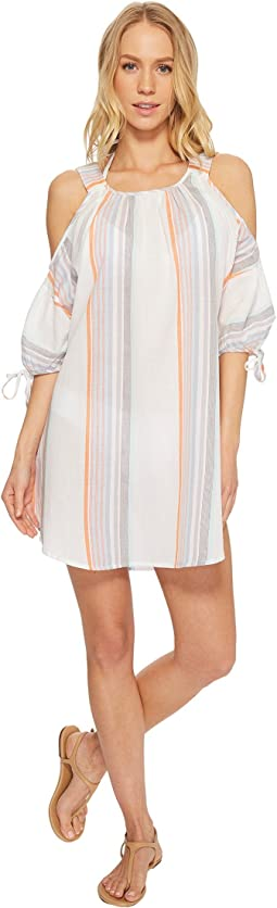 Sunset Stripe Cold Shoulder