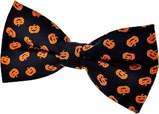 Joyful Fun Happy Halloween Pattern Woven Pre-tied Bow Tie (5