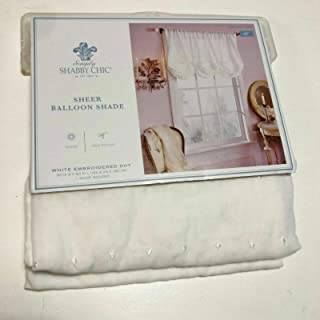 Simply Shabby Chic Embroidered Batiste Balloon Window Valance- OFF White (60x63