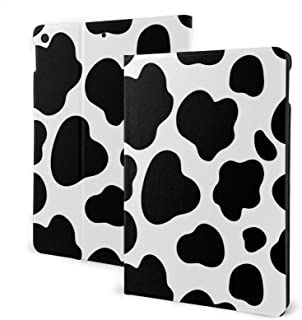 Cows Print Wallpaper Case for New IPad 7th Generation 10.2 Inch 2019 Multi-Angle Viewing Folio Smart Stand Cover Auto Wak...