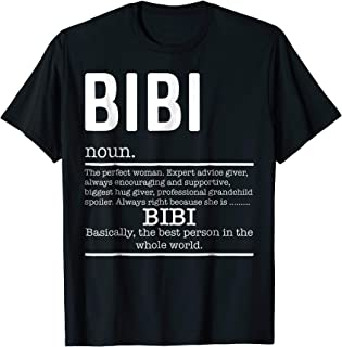 Funny Bibi Definition Grandma Mother Day Gifts T-Shirt