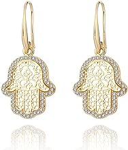 Gli orecchini di palma, intarsiati con materiale antiallergico in cristallo di zirconi, possono essere usati come regali di compleanno per ragazze o amici.