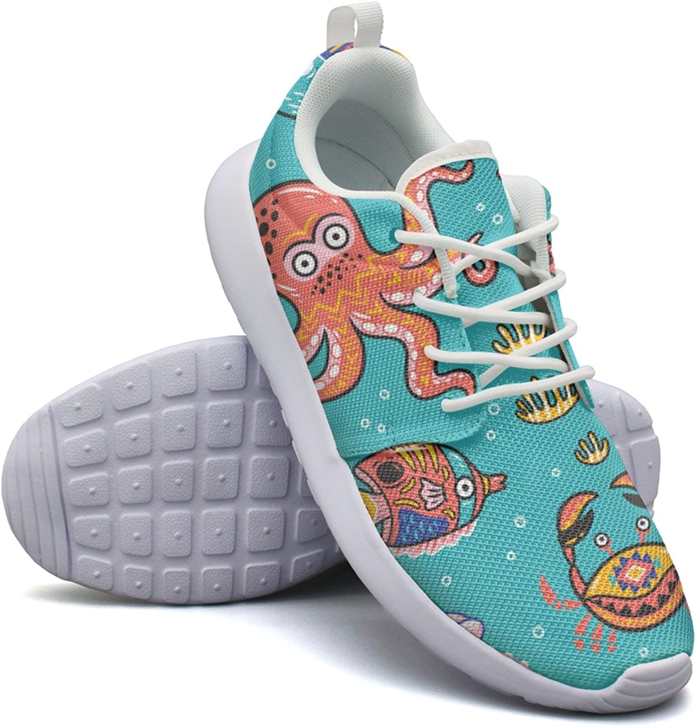 Octopus Jellyfish Crab Women Cool Fashion Running shoes Funny Active