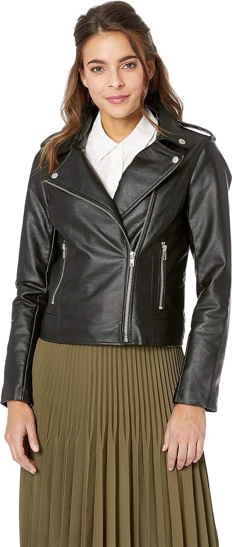 BB DAKOTA Women's Just Ride Textured Vegan Leather Moto Jacket