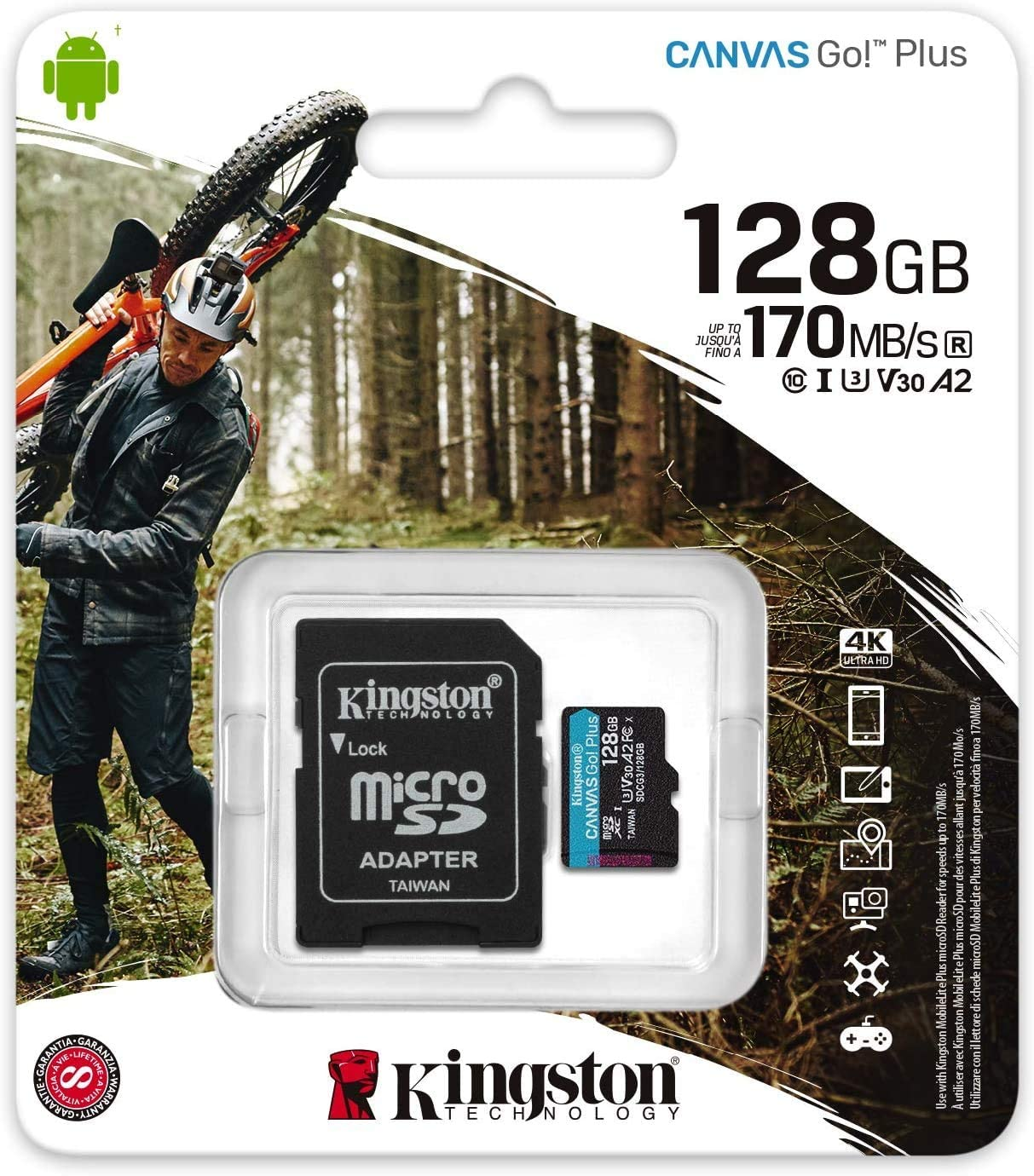 Kingston Micro Canvas Go Memory Card Kit Adapter For Computers Accessories