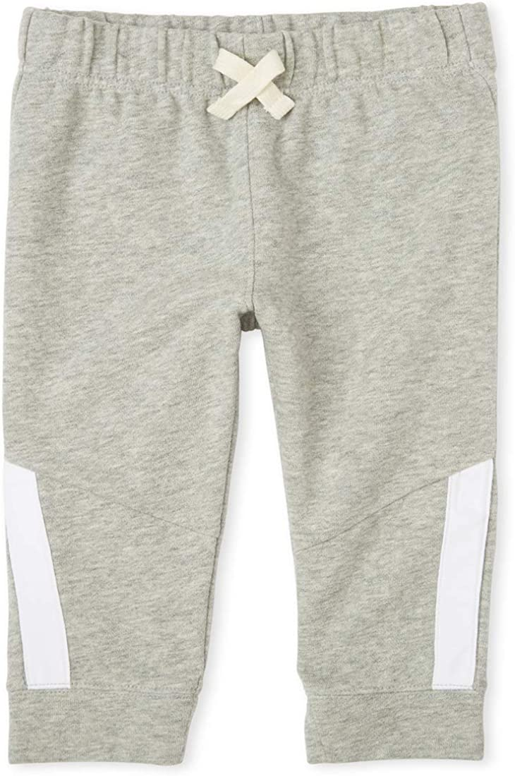 The Children's Place Boys' Baby and Toddler Active Side Stripe Fleece Jogger Pants