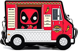 Pop By Loungefly Marvel Deadpool 30th Anniversary Chimichangas Food Truck Crossbody Bag