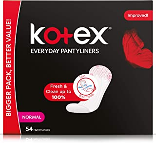 Kotex Everyday Panty Liners Normal Unscented, 54 Count