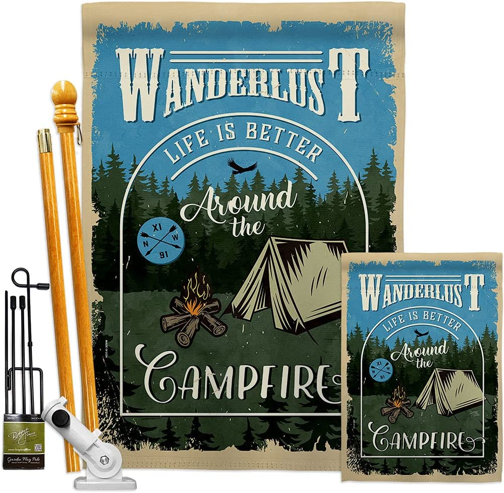 Breeze Decor Japan Maker New Camping Max 82% OFF Around The Garden House Kit Campfire Flags