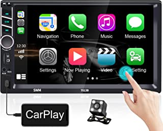 $79 » Hikity Autoradio Double Din Car Stereo with Carplay 7 Inch HD Touchscreen Car Radio with Bluetooth FM Receiver, with USB/A...