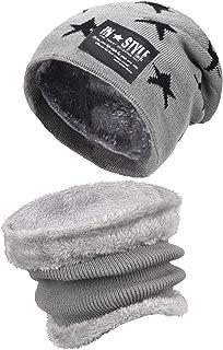 Kids Boys Girls Winter Warm Knit Beanie Hat Cap and Scarf...