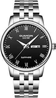 Stainless Steel Mens Watch, Fashion Business Silver...