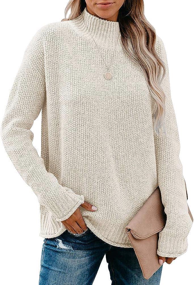 Saodimallsu Womens Turtleneck Oversized Sale item San Diego Mall Sweaters Long Sle Chunky