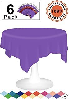 Best round purple plastic tablecloths Reviews