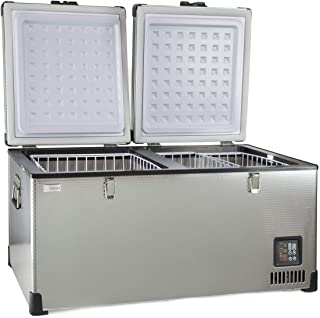 SunDanzer 12v DC Electric Powered Cooler, Portable Dual Zone Fridge Freezer, SD 90L, Great for Off-Grid, Camping, Cars, Trucks RV's and Minivans, 12/24v
