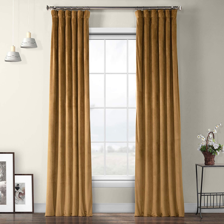 HPD Half Special sale item At the price of surprise Price Drapes VPYC Heritage 1 Velvet Plush Curtain Pane