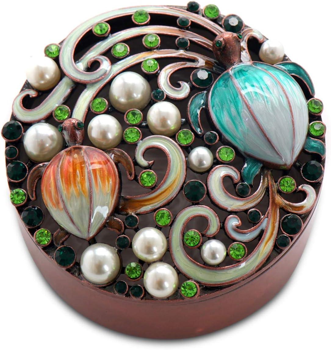 Lasody Vintage Metal Jewelry for Elegant Trinket Box Storage trend rank