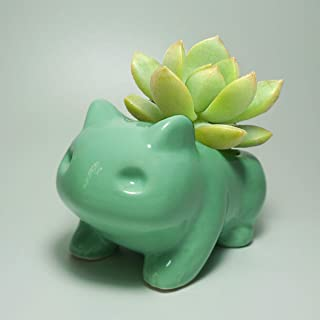 Pokemon Flower Pot Planter Bonsai Desktop Decor Ceramic Vase Home Office Garden Decoration Anime Bulbasaur Succulent Plant...