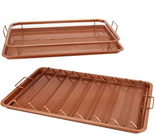 Copper Chef Pro 4-Piece Set XL Bacon Crisper & Original XL Copper Crisper