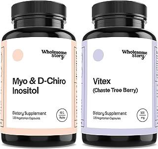 Myo & D-Chiro Inositol + Vitex | Hormone Balance, Healthy Ovarian Function & Fertility Support | Vegan Friendly