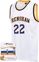 AFLGO McCall #22 Crenshaw High School Basketball Jersey S-XXXL White, 90's Clothing Throwback Omar EPPS Costume Athletic Apparel Clothing Stitched – Top Bonus Combo Set with Wristbands