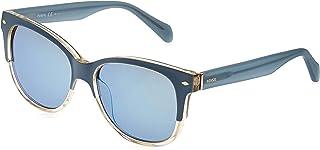 النظارة الشمسية وايفرير للجنسين من فوسيل - عدسات بلون أزرق (FWSBLLأزرق)