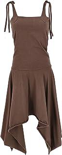 GURU SHOP Vestido convertible Goa Psytrance Festival. Falda Pixi para mujer, verde, algodón, talla: 36, largo y midi