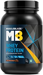 MuscleBlaze 100% Whey Protein (Rich Milk Chocolate, 1 kg / 2.2 lb, 30 Servings)