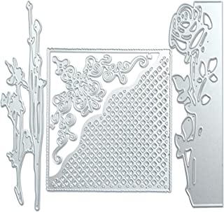3 Pack Metallic Cutting Dies,3D Embossing Die Stencil Mould Nesting Template for DIY Scrapbooking Album Decorative Letter Paper Card Craft Making Machine,Rose/Flower/Gift Card Shape
