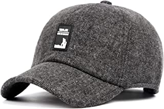 4ebab4d11fb04 SCOWAY Wool Baseball Caps Adjustable Polo Plain Sun Winter Warm Hats for Men  and Women