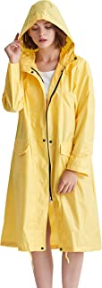 Aeman Women's Lightweight Raincoat Waterproof Packable Outdoor Hooded Rain Jacket Windbreaker