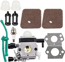 Dalom FS55 FS55R Carburetor w Air Filter Fuel Line Kit for STIHL Trimmer FS38 FS45 FS46 FS45C KM55 KM55R FS45L FS46C FS55C FS55T FS55RC HS45 HL45 Edger Weed Eater C1Q-S186