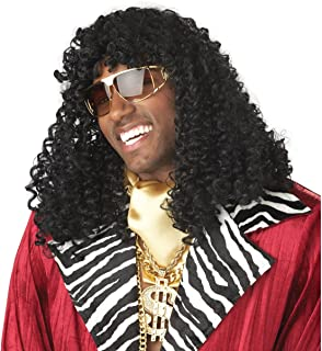 MyPartyShirt Rick James Wig Super Freak Black Curly Dave Chappelle Show Costume 70's 80's