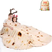 mermaker Burritos Tortilla Blanket 2.0 Double Sided 71 inches for Adult and Kids, Giant..