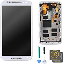 KR-NET White Display LCD Touch Screen Digitizer Assembly + Frame for Motorola Moto X2 2nd Gen w/ Tools