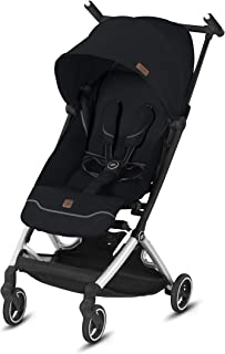 gb Pockit+ All City, Ultra Compact Lightweight Travel Stroller with Front Wheel Suspension, Full Canopy, and Reclining Seat in Velvet Black